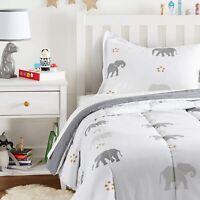 AmazonBasics Kids Elephant Comforter ONLY Soft Easy Wash Microfiber Twin