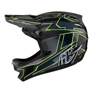 Troy Lee Designs D4 Carbon MIPS Helmet Graph Gray Green Medium