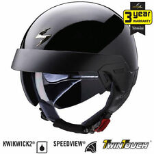 Gloss Thermo-Resin Helmets with Integrated Sun Visor