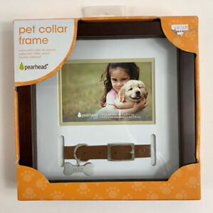 Pearhead Pet Collar Frame! 8x8 Inch Frame, 4.5x3 Inch Photo Insert New!