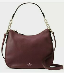 Nwt Kate Spade Mulberry Vivian Cherrywood Dark Cherry WKRU4138 Shoulder Bag $379