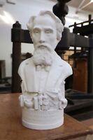 Bust Of Dickens 12cm Hand Made Gypsum Plaster Decorative Art Figure Bust New