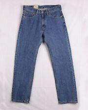 Authentic Levi's 505 Men Jeans Sits at Waist Extra Room in Thigh Straight Leg