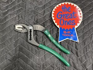 """SK Hand Tools 7625 Green Soft Grip 10"""" SOFT JAW CANNON PLUG PLIERS - USA - NEW!"""