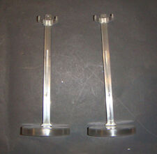 Barbie Doll Stands 2 Clear Round Stands For Repro/Regular Barbie Dolls