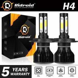 RIDROID 9003 H4 COB LED Headlight Bulbs Conversion Kit Hi-Beam 6000K White HID