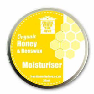 Organic Honey & Beeswax Hand & Face Skin Cream - Soothing, Natural Chemical Free