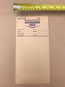 ORIGINAL DUCKHAMS OIL JOB CARD PAPER SERVICE RARE UNUSED