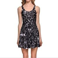 Women Pleated dress graffiti  Printed Pleated dress S-4XL Sleeveless dress