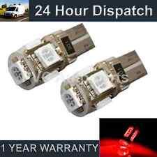 2x W5W T10 501 Errore Canbus Libero Rosso 5 LED DI CORTESIA LAMPADINE HID il101301