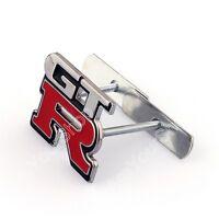 3D Metal Front Grille Grill Badge Emblem Decals Hood Auto Car GTR Logo BS1