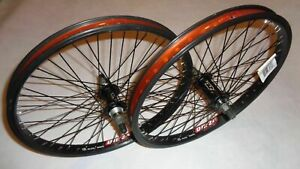 """NEW Red line Bicycle 20"""" Front And Rear Wheel BMX DM24 Double Wall 14 MM Nut GT"""