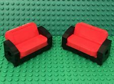 Lego X2 MOC Sofa Couch Recliner Convertible City / Friends Home Maker Furniture