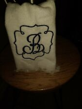Monogrammed Fingertip Towels