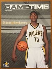 "RON ARTEST ON THE COVER OF PACERS ""GAME TIME"" MAGAZINE, 2005-2006 SEASON ! WOW !"