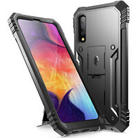 Samsung Galaxy A50 Case [w/Kick-stand] Poetic® Dual Layer Shockproof Cover Black