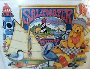 """Vintage Counted Cross Stitch Needlepoint Kit """"SALTWATER TAFFY"""" NEW OLD STOCK"""