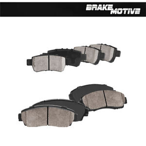 Front & Rear Ceramic Brake Pads For 2005 2006 2007 2008 2009 2010 Honda Odyssey