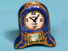 CERAMICA DIPINTA clock, miniatura DOLL HOUSE, Ornamentali, Accessorio,
