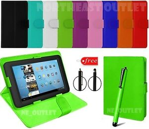"""Flip PU Leather Stand Fold Case Cover For 10"""" Inch Bush Spira B2 FHD Tablet +Pen"""