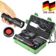 10000LM Zoombar Polizei Taschenlampe XM-L T6  LED Militär Fackel+18650+ladegerät