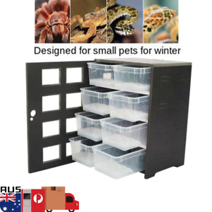 Reptile Incubator Small Pet Cabinet PVC Breeding Boxes Winter Reptile Terrarium