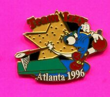 1996 OLYMPIC PIN TEAM IZZY TABLE TENNIS PIN 2020 OLYMPIC TRADER PIN IMPRINTED