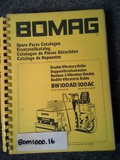 BOMAG DOUBLE VIBRATORY ROLLER  CATALOGUE PARTS BOOK BW100AD BW100AC + MANY MORE