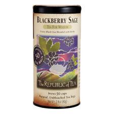 The Republic Of Tea Blackberry Sage Black Tea, 50 Tea Bags, Gourmet Black Tea, B