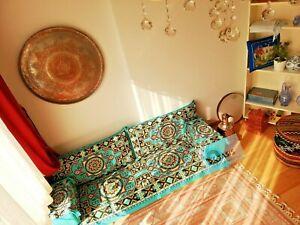 arabic majlis, turquoise floor seating, arabic furniture, jalsa, OFC 02
