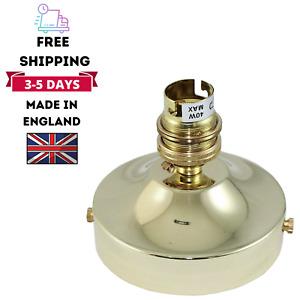 Modern Brass Ceiling Rose With Lamp Holder Fitting Lighting B22