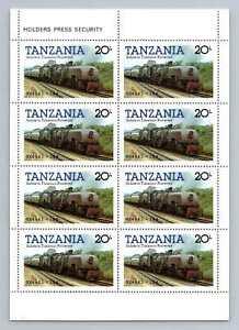Tanzania 1985 SG#432, 20s Railway Locomotive MNH M/S Sheet #M1183A