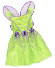 George Disney Fairies Girls Tinkerbell Fancy Dress Costume Outfit World Book Day