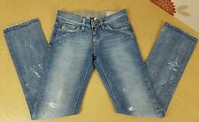 Diesel Jeans Womens Liv low rise distressed size 6 waist 24 leg 31.5 holiday