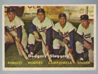 1957 Topps Dodgers Sluggers #400 vgex
