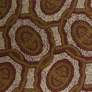 Vintage Beige Burgundy Foulard MOLTENI Silk Tie