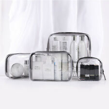 Set of 4 Transparent Makeup Bag Organizer Clear Cosmetic Pouch Case for Travel