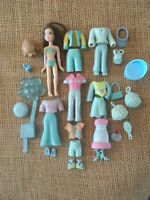 "Polly Pocket Doll Lot ""Colors of the Rainbow"" Blue Pet Clothes Rubber A6"