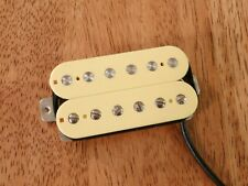 BRIDGE HUMBUCKER PICKUP CREAM ALNICO 2 MAGNETS NICKEL SILVER BASEPLATE 4 WIRES