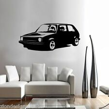 GOLF GTI MK1 WALL ART01 decal graphic adhesive UNIQUE