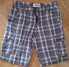McKenzie Shorts Casual Zip Fly Brown Checked Size L W36