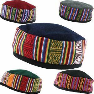 SMOKING HAT WOOL BLEND SIESTA NEPALESE THINKING LOUNGING CAP FEZ FESTIVAL