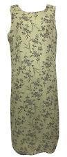 Style & Co Long Green Floral 100% Linen Dress Women's 16W Jumper Pullover Midi