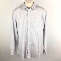 Banana Republic Men's Classic Fit Striped Button Down Dress Shirt Size Large