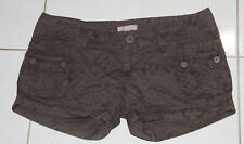 Womens size 12 brown cotton shorts made by RIP CURL