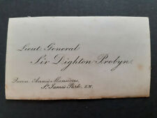 More details for c1875 calling card lieut general sir dighton probyn vc to mrs william johnson