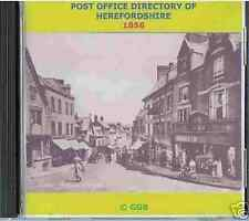 GENEALOGY DIRECTORY OF HEREFORDSHIRE 1856 CD ROM