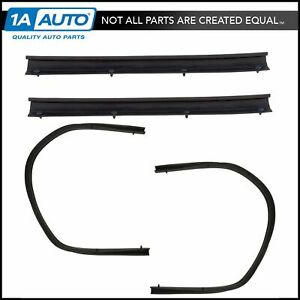 Lower Door Weatherstrip Seal Set of 4 Front & Rear for Ford F250 F350 F450