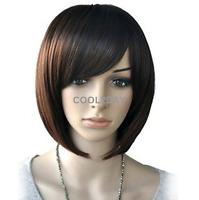Women Short BoB Wig Fashion Straight Cosplay Wigs Heat Resistant Hair Natural