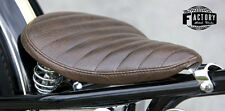 Triumph Harley xs cb 650 Bobber Chopper Solo Seat Frame Hardtail Custom Brown H
